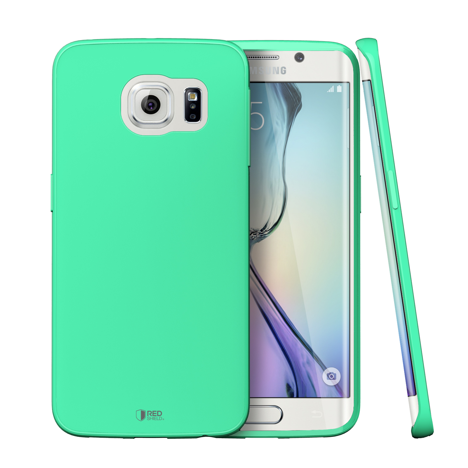 huge selection of c5b7b 1afed Samsung Galaxy S6 Edge Case [Fresh Mint] Slim & Flexible Anti-shock Crystal  Silicone Protective TPU Gel Skin Case Cover