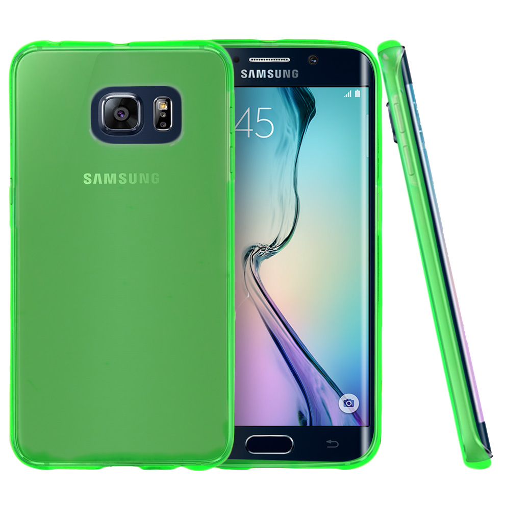 best value e30de 940de Samsung Galaxy S6 Edge Case [Neon Green] Slim & Flexible Anti-shock Crystal  Silicone Protective TPU Gel Skin Case Cover
