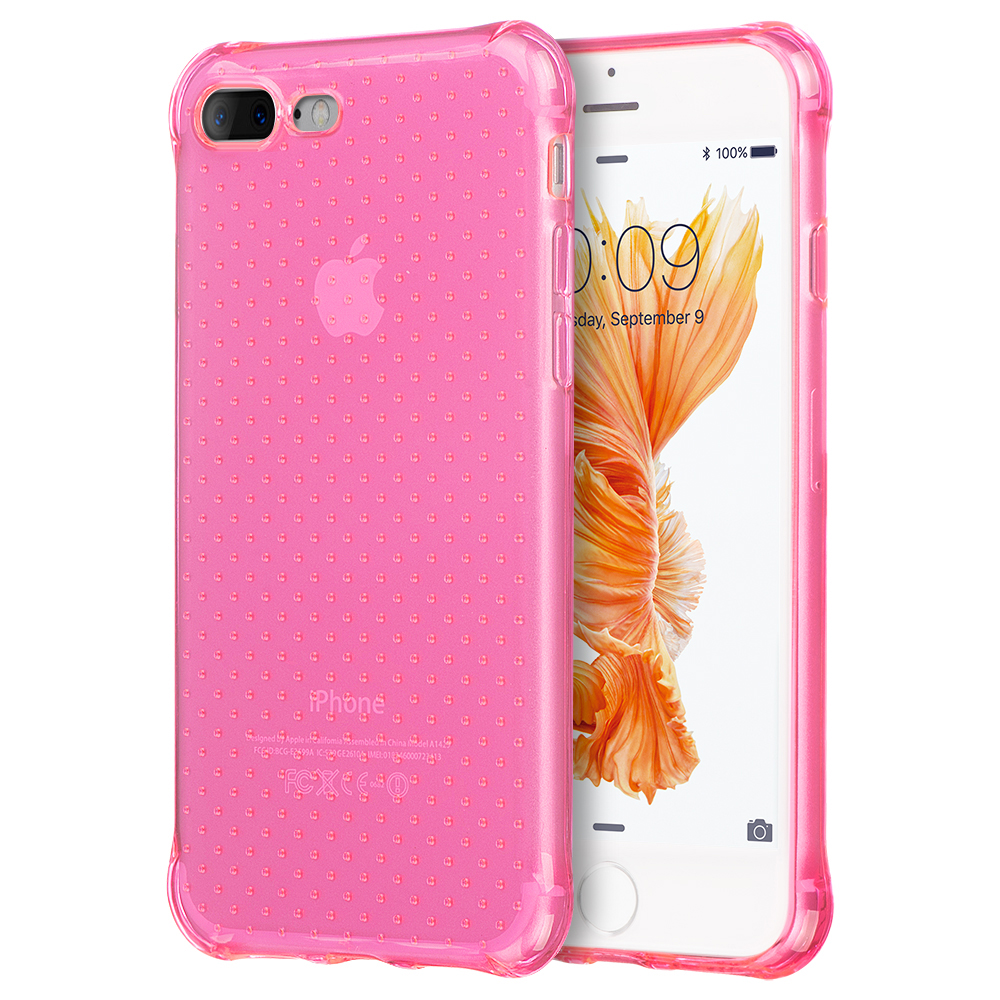 new concept b7526 d6b87 Made for Apple iPhone 8/7/6S/6 Plus Case [Hot Pink] Durable Anti-shock  Crystal Silicone Protective TPU Gel Skin Case Cover with Travel Wallet  Phone ...