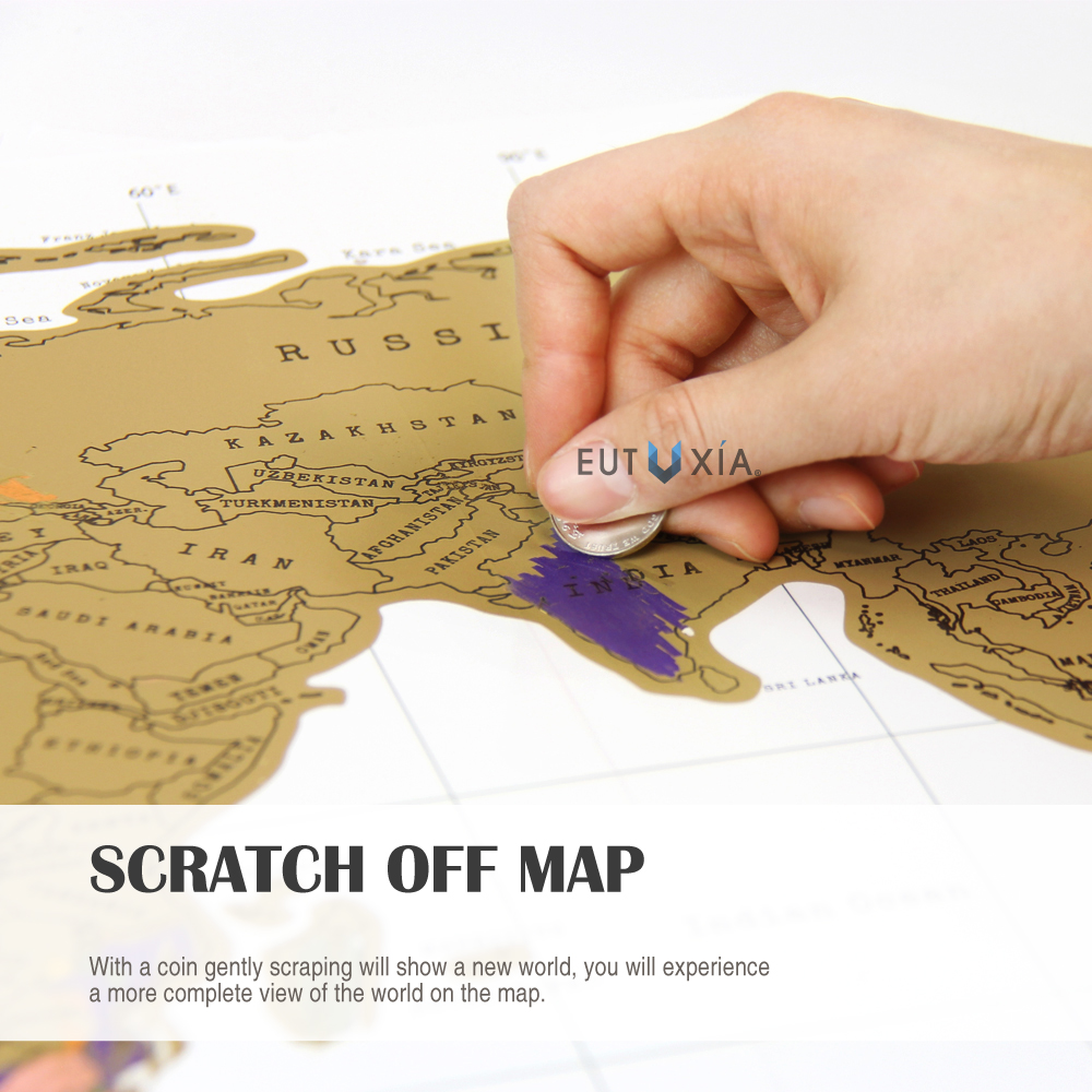 Accessorygeeks Com Eutuxia Travel Scratch World Map 34x20 Inch